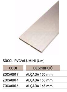 Sòcol pvc alumini